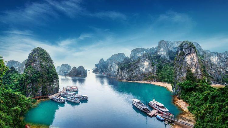 Halong vietnam paesaggi