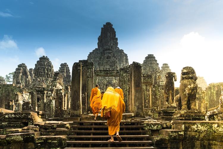 Tempio di bayon-Vietnam Cambogia viaggio con i bambini