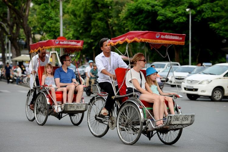 cyclo Hanoi - Vietnam Cambogia viaggio con i bambini