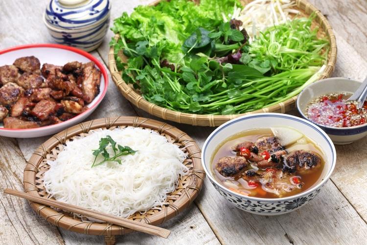 Bun Cha , Un piatto di Hanoi , Vietnam - Vietnam Cambogia Capodanno