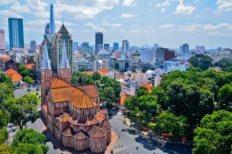 La cattedrale di Notre Dame- Saigon Vietnam