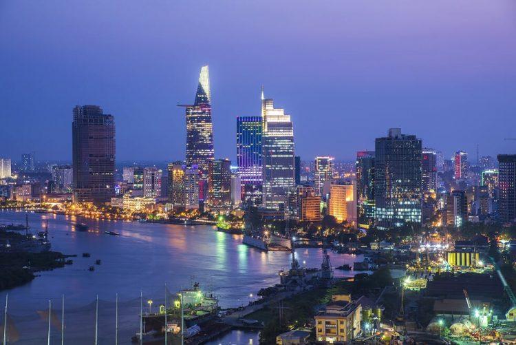 Fiume di Saigon - Saigon Vietnam