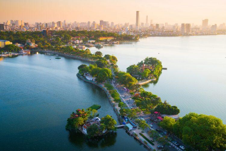 Il più grande lago d'acqua dolce di Hanoi
